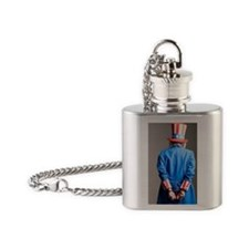 Man in Uncle Sam's costume as priso Flask Necklace