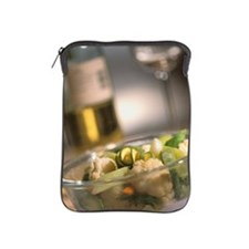 Mixed vegetables in a bowl with winegl iPad Sleeve