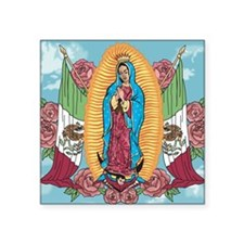 "Our Lady of Guadalupe Square Sticker 3"" x 3"""