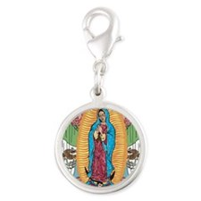 Our Lady of Guadalupe Silver Round Charm