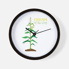 Cream Of The Crop Wall Clock