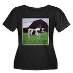 Cow Country Women's Plus Size Scoop Neck Dark T-Sh