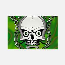 Brass knuckles skull 3 Rectangle Magnet