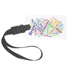 Brain Cloud Luggage Tag
