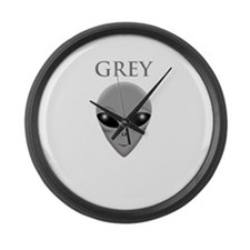 ONCE YOU GO GREY,YOU WILL NOT GO  Large Wall Clock