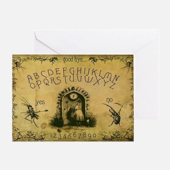 The J.J. Grandville Collage Spirit B Greeting Card