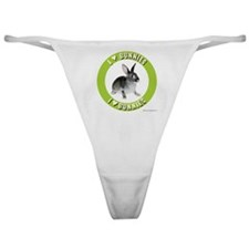 Bunny Thong: I Love Bunnies (green)