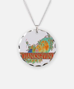 Thanksgiving Cornucopia Necklace