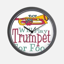 Will Play Trumpet Wall Clock