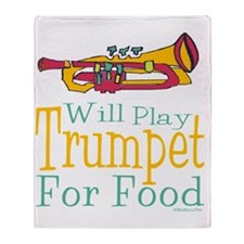 Will Play Trumpet Throw Blanket