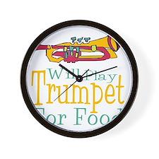 Will Play Trumpet Wall Clock