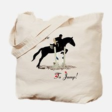 I Love To Jump Horse Tote Bag