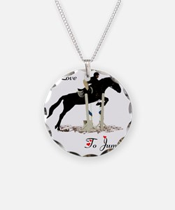 I Love To Jump Horse Necklace