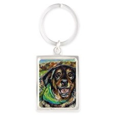 Portrait of Angie Portrait Keychain