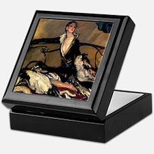 Deco Lady Borzoi ipad case Keepsake Box