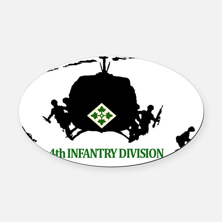 4th INFANTRY DIVISION Oval Car Magnet