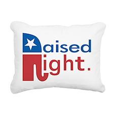 Raised Right Rectangular Canvas Pillow