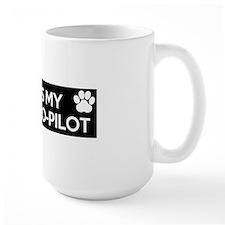 funny dog is my copilot Mug