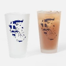 Greek Flag Map Drinking Glass