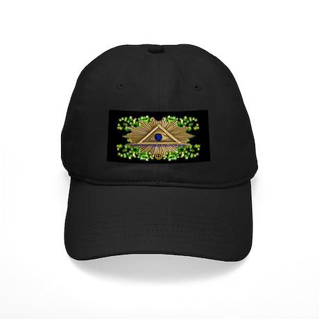 "Ancient ""All Seeing Eye"" symb Black Cap"