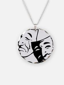 Comedy/Tragedy Masks Necklace