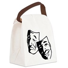 Comedy/Tragedy Masks Canvas Lunch Bag