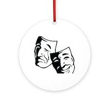 Comedy/Tragedy Masks Round Ornament