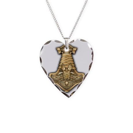 gold thors hammer necklace charm by admin cp14613691