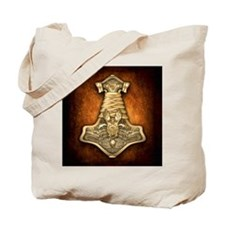 Gold Thors Hammer Tote Bag