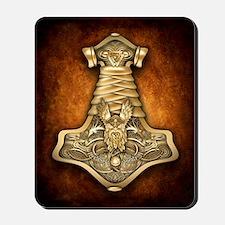 Gold Thors Hammer Mousepad
