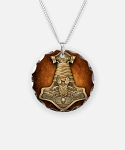 Gold Thors Hammer Necklace