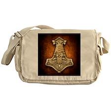 Gold Thors Hammer Messenger Bag