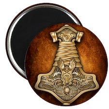 Gold Thors Hammer Magnet