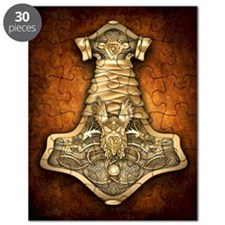 Gold Thors Hammer Puzzle