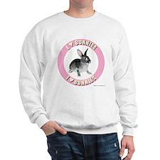 Bunny Sweatshirt: I Love Bunnies (pink)