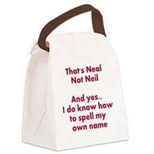 That's Neal Not Neil... Canvas Lunch Bag