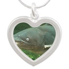 Catfish Noodle Silver Heart Necklace