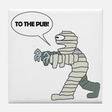 To the Pub! Tile Coaster
