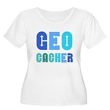 Geocacher Arrows Blue T-Shirt