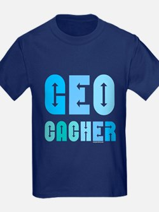 Geocacher Arrows Blue T