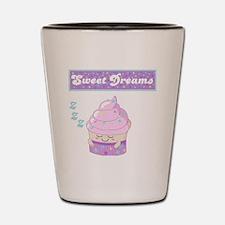 Sweet Dreams Sleeping cupcake Shot Glass
