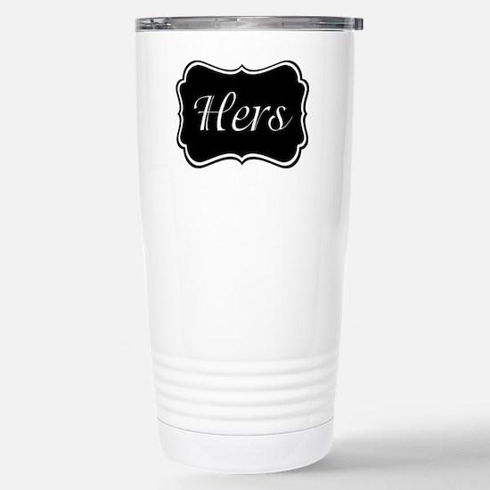 His and Hers Pajamas Stainless Steel Travel Mug