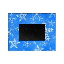 Blue and White Snowflake Pattern Picture Frame