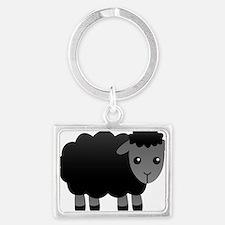 black sheep Landscape Keychain