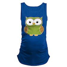 Funky owl Maternity Tank Top