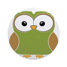 Funky owl Round Ornament