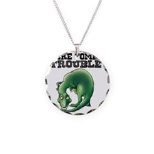 Here Comes Trouble Dinosaur Necklace