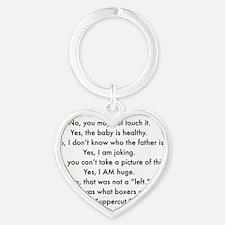 Yes I am pregnant MUG Heart Keychain