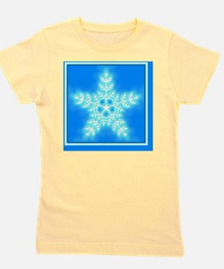 Blue and White Star Snowflake Girl's Tee