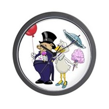 Pig and Goose Formal  Wall Clock